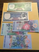Suriname: 5 South America Banknotes (242-6)