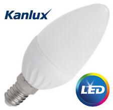 3 x KANLUX 4,5 W SMD E14 LED High Lumen Candela Lampadina Lampada 400LM COOL WHITE