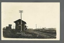 Simpson MINNESOTA RP 1916 DEPOT C.G.W. RR Train Station GHOST TOWN nr Rochester