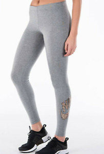 New NIKE Women Leggings M/  soft cotton/stretchy/ gym/ grey/ gym/fashion/gold