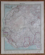 1926 Westafrika West Africa Afrika Kupferstich Alte Landkarte Karte Antique Map