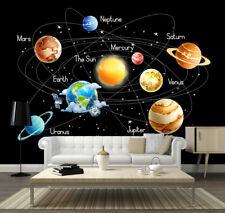 Space Stars Planets Solar System Earth Wallpaper Mural Photo Children Kid Poster