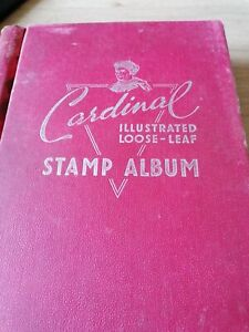 Old stamp albums with stamps