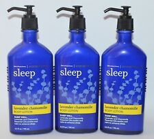 3 BATH & BODY WORKS AROMATHERAPY SLEEP LAVENDER CHAMOMILE LOTION HAND CREAM LOT