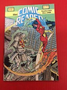 COMIC READER #215 First Spider-man Black Costume Near Mint Unread Free Shipping