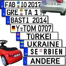 Name Kennzeichen Aufkleber Baby Racer Lauflern Wagen Seifenkiste personalisiert