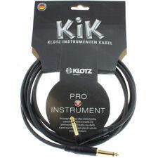 KLOTZ KIK APR 20ft 6m Guitar Cable Cord Right-Angle Metal Amphenol Gold Plugs