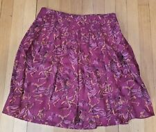 Dark Pink Silk Skirt by Ruffian from Anthropologie Size 2