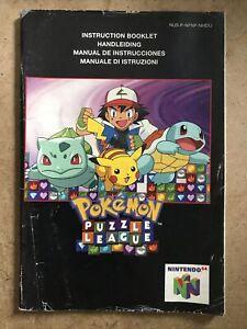 Notice Manuel Instruction Booklet Nintendo 64 N64 Pokemon Puzzle League EUR