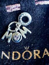 New Pandora Genuine MOM Dangle    Charm  S925 ALE 797059NSP