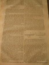 Des Lames de Scies et de leur mode d'action Gravure Print 1844