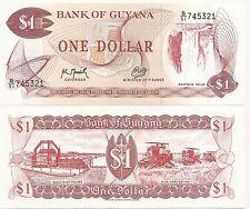 1966-1992 1 Dollar-Crisp Uncirculated Guyana P-21g ND