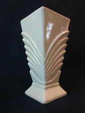 FLORAL VASE! Vintage McCOY ART pottery circa 1943: gloss WHITE glaze LOVELY!