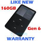 Apple IPOD CLASSIC - 6th Generation 160GB - Black - NEW Housing + Battery