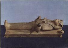 Alte Kunstpostkarte - Toutankhamon -  L'image du roi sur son lit funéraire