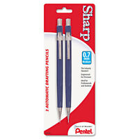 Pentel Sharp Mechanical Drafting Pencil 0.7 mm Blue Barrel 2/Pack P207BP2K6