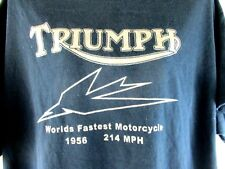 Vintage Triumph Motorcycles T Shirt tee biker mens adult punk rock logo rider XL
