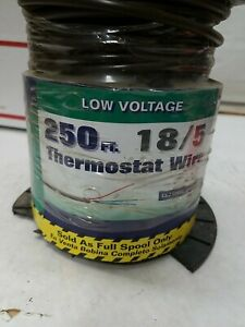 Coleman Cable 250 ft. 18/5 Brown Solid CL2 Thermostat Wire FREE SHIPPING