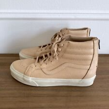 NEW Vans SK8-Hi Vegetable Tan Leather Sneakers Vachetta Men's US 10