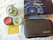 HARDY DEMON 7000 REEL WITH ORIGINAL BOX & 2 SPARE SPOOLS ETC SUPERB COND.