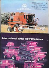 International axial flow combiner brochures x 2 1979 specs 1420 1440 1460 1480