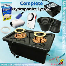 Hydroponics 50L DWC Watering System Irragation Kit Air Water Pump Timer Mesh Pot