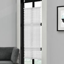 Plissée 55x150cm Blanc -sans Perceuse Pliage des Aveugles