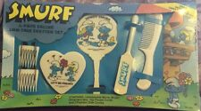 Vintage 1982 Girls Smurf 6 -Piece Deluxe Hair Care Set by Wallace Berrie MPN 534
