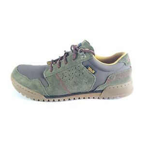 TEVA HIGHSIDE 84 Men's 9.5 Suede Hiking Walking Sneaker Shoes Green Brown