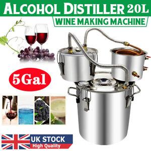 3 Pot 5 Gal Water Wine Alcohol Distiller Fruit Wine Brandy Brewing Distilling UK