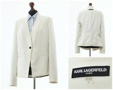 Women's KARL LAGERFELD Blazer Coat Jacket One Button White Size 10