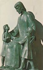 "*Religious Postcard-""Statues...Jesus With The Children"" (U1-835)"