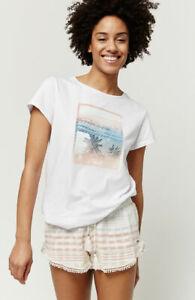 O'Neill Palm Ladies Short Sleeve T Shirt, White