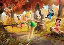 "PAPIER PEINT MURAL MUR - "" Disney Fairies "" Fée Clochette PHOTO DÉCOR POUR"