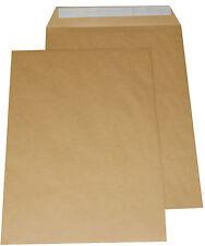 10 Versandtaschen DIN C4 Briefumschläge ohne Fenster braun für DIN A4