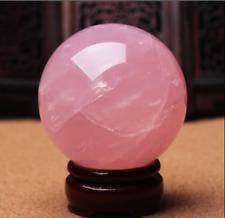 1PC Natural Pink Rose Quartz Magic Crystal Healing Ball Sphere 40MM