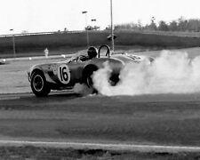 New! Vintage 8X10 1964 Daytona Dan Gurney in Shelby Cobra