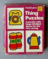 Vintage Thing Puzzles by Waddingtons 1978 preschool jigsaw puzzles