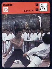BRUCE LEE 1977 SPORTSCASTER CARD Near-mint