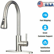 Commicial  Kitchen Sink Faucet Stainless Steel Bathroom faucet Pull Down Sprayer