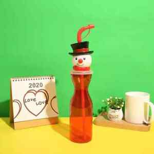 Snowman Drinking Bottle Straw Kids Xmas Christmas Eve Box x10