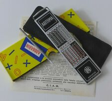 Addiator Arithma Aluminium Rechengerät Calculator Mint ca 1970