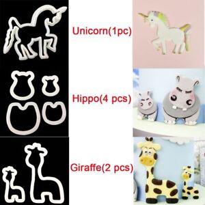 GIRAFFE/UNICORN/HIPPO ANIMAL CUTTERS - CAKE DECORATING - SUGARPASTE - MODELLING