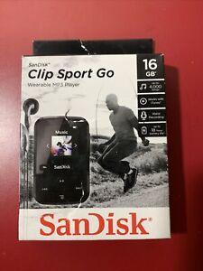 SanDisk 16GB Clip Sport Go Wearable MP3 Player, Black #SDMX30-016G-G46K