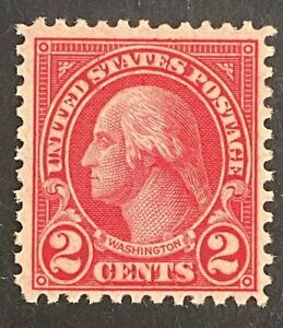 US Stamps, Scott #595 2c 1923 Copy 2020 PF Certificate for block of 4 F/VF M/NH