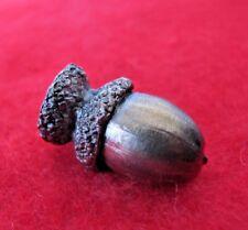 """Lost Wax Cast Bronze Oak Double capped  """"Acorn""""  Decorative Sculpture"""