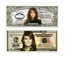 One set of 2 Melania Trump fantasy paper money