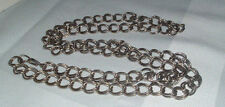 VINTAGE SILVER TONE LINK METAL CHAIN BELT OR NECKLACE 39""
