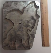ANTIQUE TIN FOLK ART RARE METAL LARGE HALLOWEEN COOKIE CUTTER