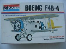 VINTAGE 1968 MONOGRAM BOEING F4B-4 NAVY CARRIER-BASED 1:72 SCALE MODEL NIB!